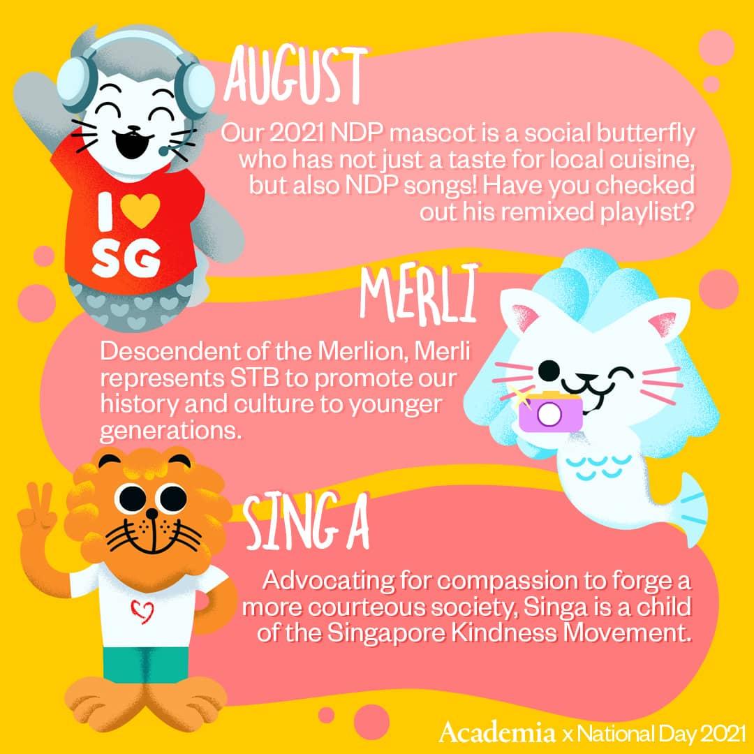 Singapore Mascots with Academia