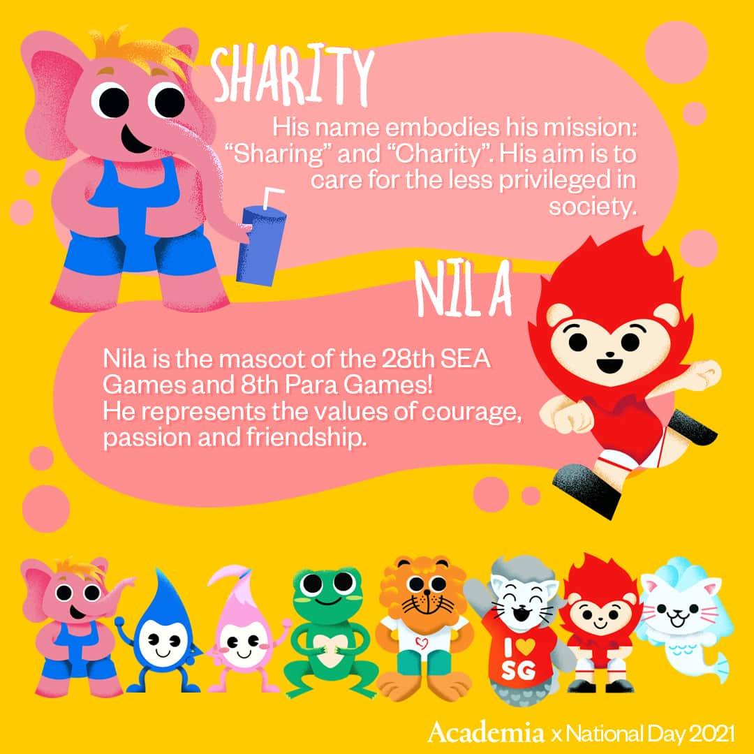 Singapore Mascots with Academia 4